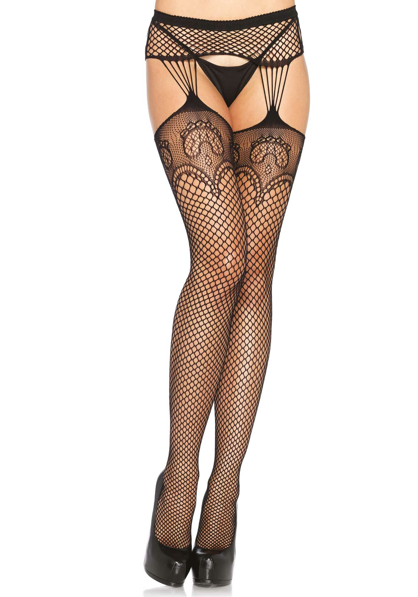 Duchess Lace Top Garterbelt Stockings Suspender Tights