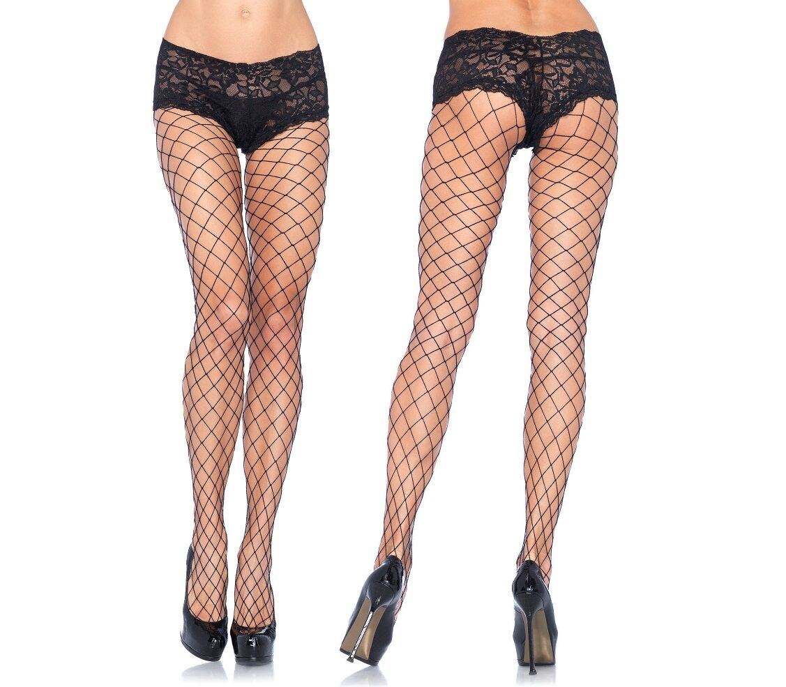 Fence Net Tights with Lace Boy Short Top