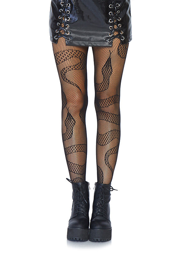 Black Snake Fishnet Tights